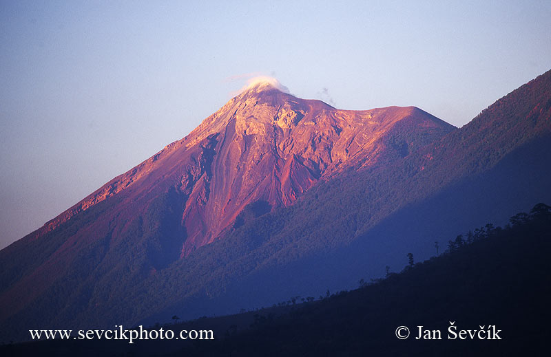 Photo of sopka volcano Fuego Guatemala